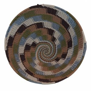 Earthtone Large Round Handwoven Telephone Wire Basket
